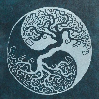 Dámské tílko Yin&Yang Tree Blue Nepal