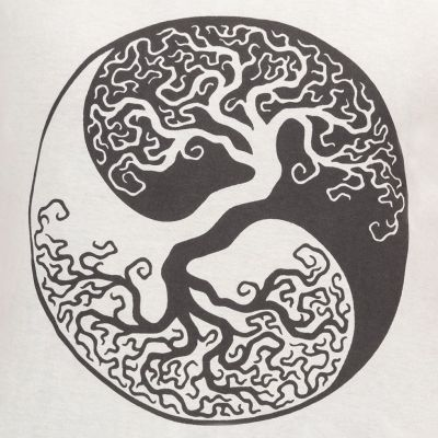 Dámské tílko Yin&Yang Tree Grey Nepal