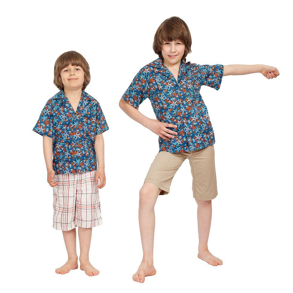 """Dětská """"havajská košile"""" Blue Sea India"""