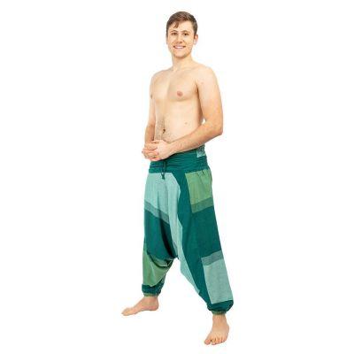 Harémové kalhoty Telur Green Nepal