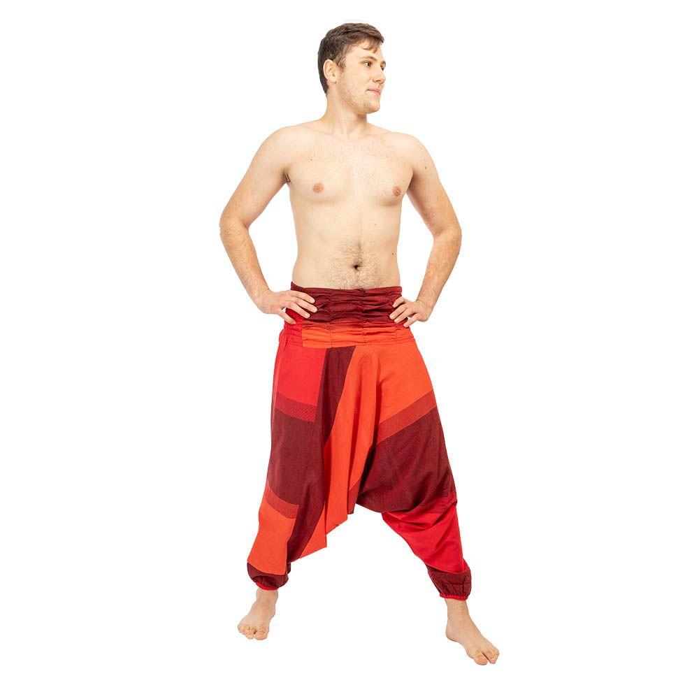 Harémové kalhoty Telur Red Nepal