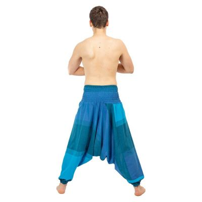 Harémové kalhoty Telur Turquoise Nepal