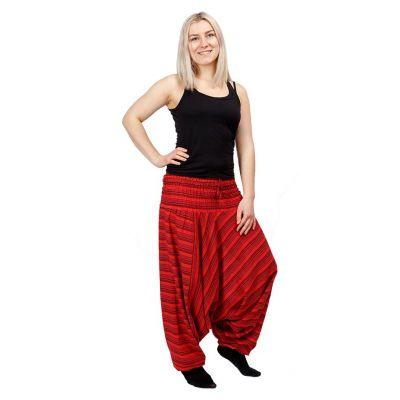 Kalhoty Garis Merun