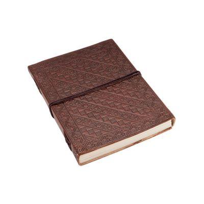 Kožený zápisník Keltská spirála India
