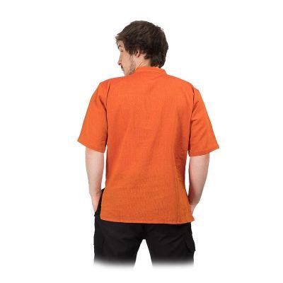 Kurta Pendek Jeruk - pánská košile s krátkým rukávem Nepal