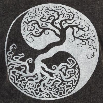 Pánské tričko Yin&Yang Tree Black Nepal