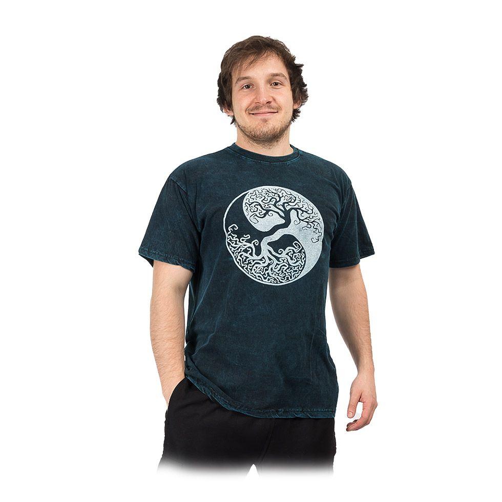 Pánské tričko Yin&Yang Tree Blue Nepal