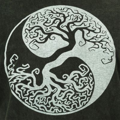 Pánské tričko Yin&Yang Tree Green Nepal