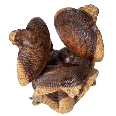 Ručně vyřezávaný dřevěný stolek Kobry Indonesia