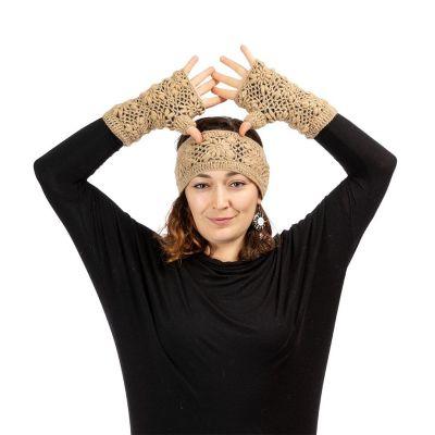 Vlněné návleky na ruce Bardia Beige