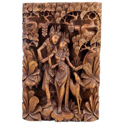 Dřevořezba Ráma, Síta a zlatý srnec Maricha