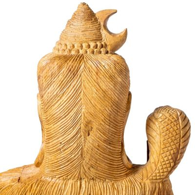 Vyřezávaná dřevěná soška Sedící Šiva Indonesia