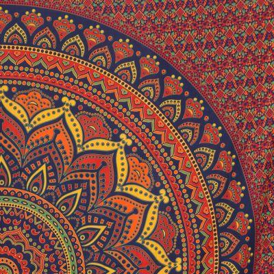 Bavlněný přehoz na postel Lotosová mandala - velký India
