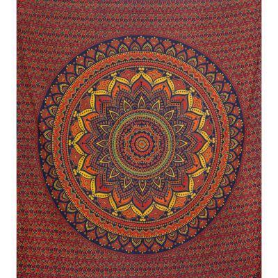 Bavlněný přehoz na postel Lotosová mandala - velký