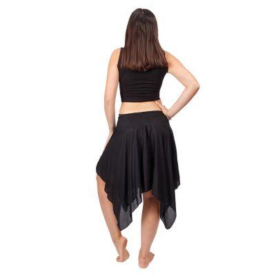 Cípatá sukně s elastickým pasem Tasnim Black Nepal