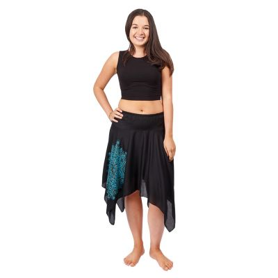 Cípatá sukně s elastickým pasem Tasnim Black | S/M, L/XL
