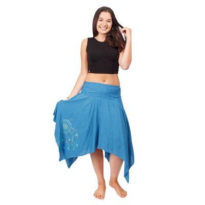 Cípatá sukně s elastickým pasem Tasnim Blue | S/M, L/XL