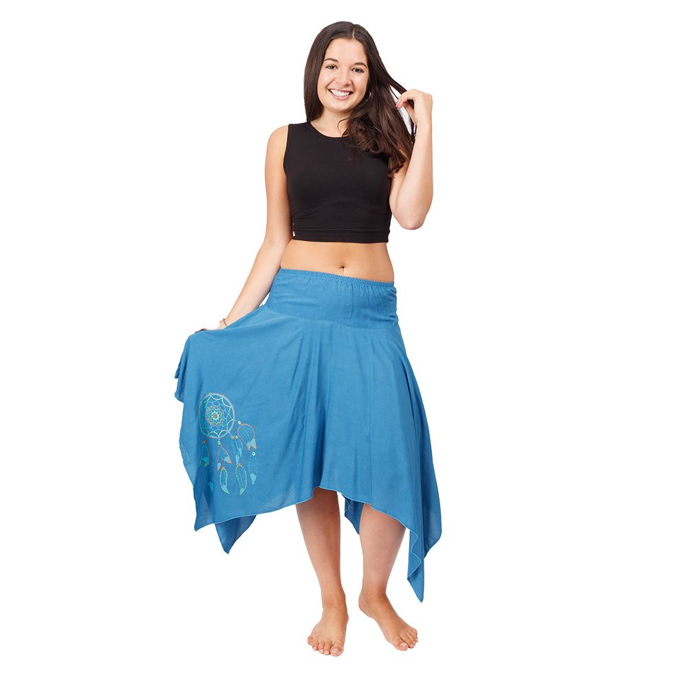 Cípatá sukně s elastickým pasem Tasnim Blue Nepal
