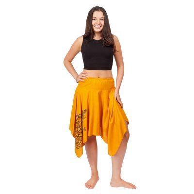 Cípatá sukně s elastickým pasem Tasnim Mustard | S/M, L/XL