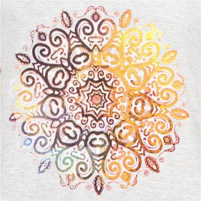 Dámské tričko s krátkým rukávem Darika Mandala Greyish Thailand