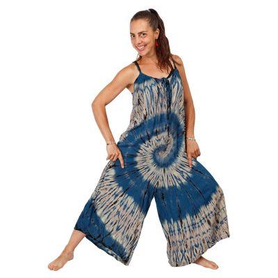 Dlouhý batikovaný overal Sonali Blue | UNI