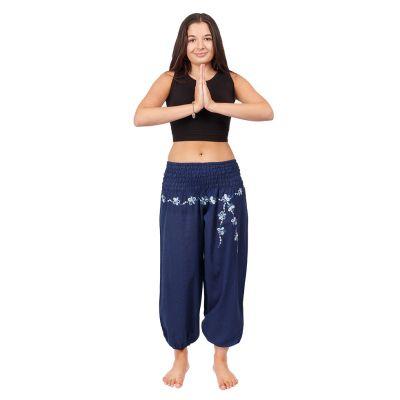 Kalhoty sultánky s výšivkou Sabuk Biru | S/M, L/XL