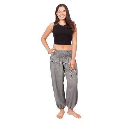 Kalhoty sultánky s výšivkou Sabuk Kelabu | S/M, L/XL
