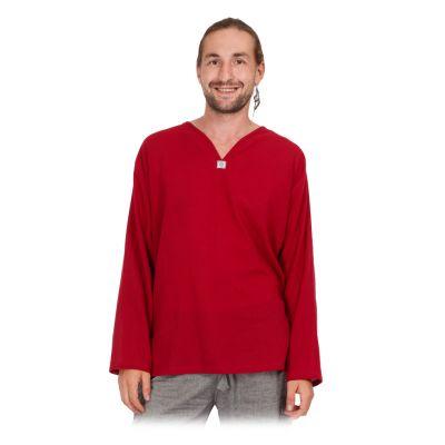 Kurta Abiral Burgundy - pánská košile s dlouhým rukávem | M, L, XL, XXL