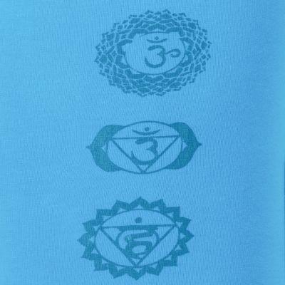 Legíny s potiskem Chakras Blue Nepal