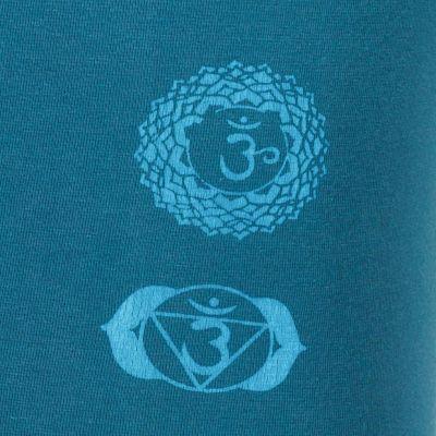 Legíny s potiskem Chakras Petrol Blue Nepal