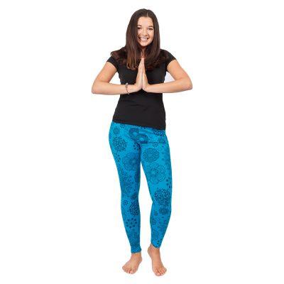Legíny s potiskem Mandala Blue | S/M, L/XL