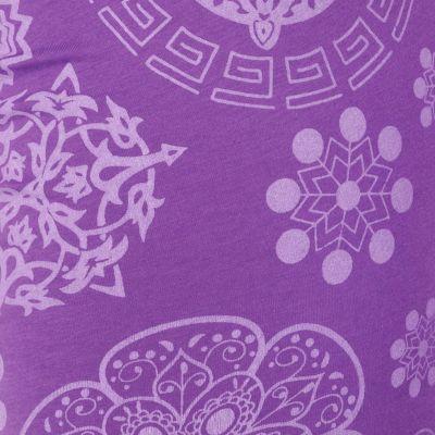 Legíny s potiskem Mandala Purple Nepal