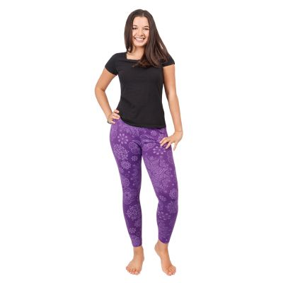 Legíny s potiskem Mandala Purple | S/M, L/XL