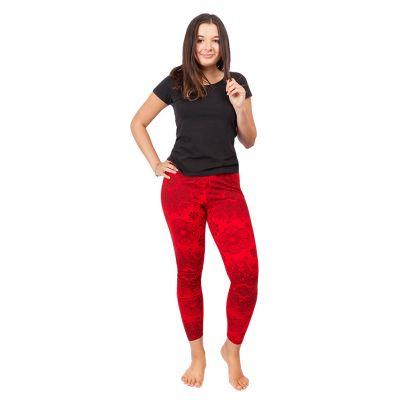 Legíny s potiskem Mandala Red | S/M, L/XL