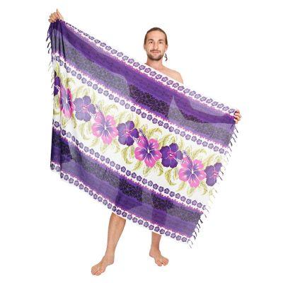 Sarong / pareo Hibiscus Purple