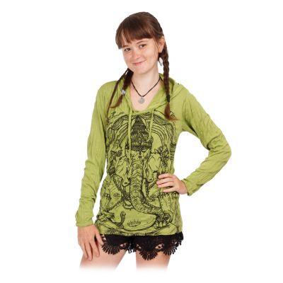 Tričko Sure s kapucí Angry Ganesh Green | S, M, L, XL