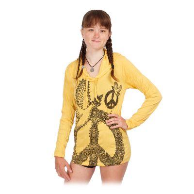 Tričko Sure s kapucí Dove of Peace Yellow | S, M, L, XL