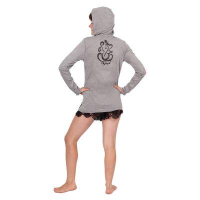 Tričko Sure s kapucí Elephant Grey Thailand