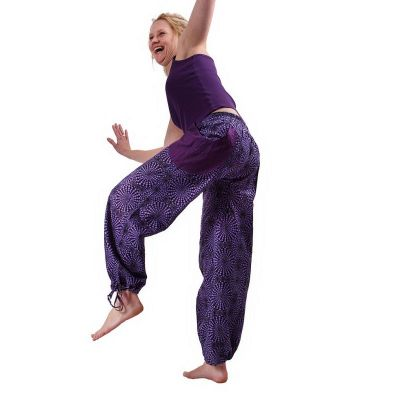 Kalhoty Lompat Ungu
