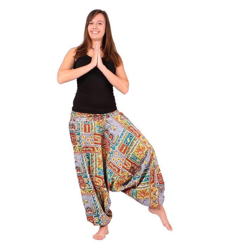 Harémové kalhoty Inca's Graffitti India