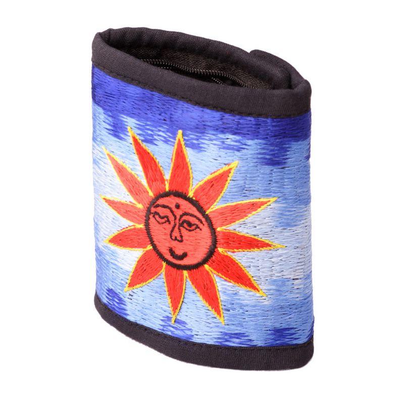 Vyšívaná peněženka Slunce