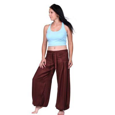Kalhoty Segi Brown Rayon