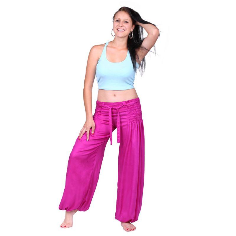 Kalhoty Segi Pink Rayon