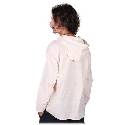 Kurta Ganet Putih - pánská košile s dlouhým rukávem Nepal