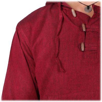 Kurta Ganet Merun - pánská košile s dlouhým rukávem Nepal