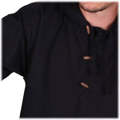 Kurta Ganet Hitam - pánská košile s dlouhým rukávem Nepal