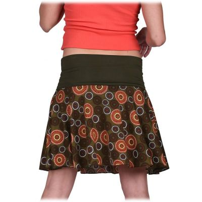 Kolová mini sukně Lutut Hutan Thailand