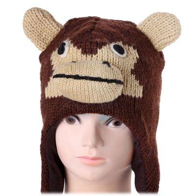 Vlněná čepice Opice