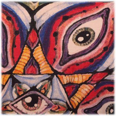 Tričko značky Mirror - Eye Mandala Beige