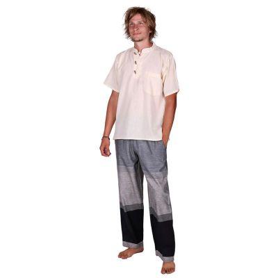 Kurta Pendek Putih - pánská košile s krátkým rukávem